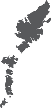 the shape of the Outer Hebrides